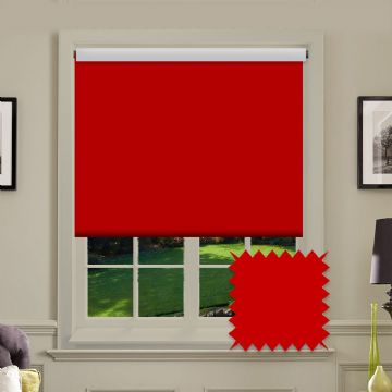 Blackout Red Roller Blind - Bermuda Red